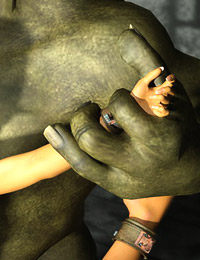 Petite Warcraft elf with large jubes screaming for help with her ass fingered and fucked by orc