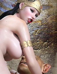 Fantastic 3D groupsex action with gorgeous mistresses and big beasts.