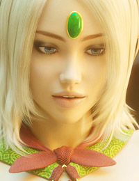 Pretty animated scene with an astonishing blonde elf