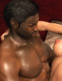 Enormous black 3D pecker in a blonde's tight and wet muff